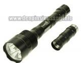 """Độ sáng cực khủng 3000lm trong một """"thân thể"""" khá nhỏ gọn, rẻ hơn nhiều so với các loại đèn pin cùng độ sáng. Thông số kĩ thuật: - Sử dụng 3 Led CREE XML-T6, cho độ sáng cực cao - Độ sáng 2400 – 3000 lumen - Đèn có 3/5 chế độ sáng: Hight / Mid / Low / Strobe/ SOS. - Vỏ hợp kim nhôm siêu bền, ko rỉ sét, thiết kế kín..."""