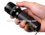 Đèn pin siêu sáng Trustfire D76 mẫu mã mới lạ, thiết kế nhỏ gọn với công tắc trên thân đèn và hộc pin 26650 tiện lợi Thông số kĩ thuật: - Led: CREE XM-L2 T6 - Độ sáng: 1200 lumen - Chiếu xa: 150m - Kích thướt: 127mm x 45mm x 35mm - Trọng lượng: 155g - 3 chế độ sáng: Hight / Mid / Strobe - Thân đèn: hợp kim nhôm - Nguồn: 1...
