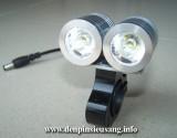 Đèn xe đạp siêu sáng SLC-0315 là mẫu đèn cao cấp dành riêng cho xe đạp với độ sáng cao 2000lm,chống nước tốt, pad kim loại chuyên nghiệp Thông số kĩ thuật: - Sử dụng 2LED CREE XML-T6, cho độ sáng cực cao - Độ sáng 2000 lumen - Chiếu xa 150m - Kích thước: 60mm x 60mm x 40mm - Trọng lượng: 160g - Đèn có 3 chế độ sáng: Hight / Mid /...