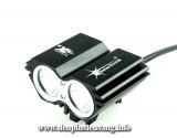 Đèn xe đạp siêu sáng Solarstorm X2 là mẫu đèn cao cấp, độ sáng cao 1500lm,chống nước tốt, pad kim loại chuyên nghiệp Thông số kĩ thuật: - Sử dụng 2LED CREE XM-L2 T6, cho độ sáng cực cao - Độ sáng 1500 lumen - Chiếu xa 150m - Kích thước: 58mm x 45mm x 38mm - Trọng lượng: 125g - Đèn có 4 chế độ sáng: Hight / Mid / Low / Strobe -...
