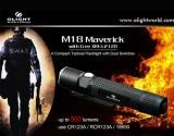 Đèn pin siêu sángOlight M18 Maverick phiên bản tác chiến dòng M của Olight, nhỏ gọn, đa năng, mạnh mẽ, dễ dùng rất phù hợp với công việc của thám tử, mật vụ và cả các binh sỹ tác chiến Đèn pin Olight M18 Maverick thiết kế 2 công tắc 1 là nguồn + truy cập nhanh mức sáng MAX, Strobe, 2 là công tắc hông dùng chuyển mode sáng kèm chức năng báo pin...