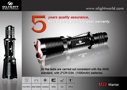 Đèn pin Olight M22 Warrior là một đèn pin tác chiến với thiết kế chuyển mode ở phần đầu đèn và kích hoạt Turbo/Strobe mode ở phía công tắc đuôi, sử dụng Cree L2 mới nhất cho ánh sáng mạnh mẽ đạt 950Lm. Đèn pin OlightM22 làm cho một sự lựa chọn hoàn hảo cho các cơ quan chính phủ, thực thi pháp luật,ứng dụng quân sự, săn bắn… Thông số kĩ thuật: – Thương […]