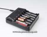 Sạc Trustfire TR-012, là sạc đa năng cho phép sạc 6 pin cùng lúc các loại như: 14500, 17500, 16340, 18500, 17670, 18650, 14650, 10440 (3.7v), Ni-MH: AA, AAA (1.2v)… vô cùng tiện lợi. Thông số kỹ thuật: - Thương hiệu: Trustfire - Mã hàng: TR-012 - Input : 100-240V 50-60Hz - Output: 4.2V = 1A - Kích thước: 139mm x 125mm x 36.8mm - Trọng lượng: 246g - Đèn led báo hiệu pin đầy...