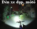 Đèn xe đạp, đèn xe máy, mô tô, ô tô, độ sáng siêu khủng