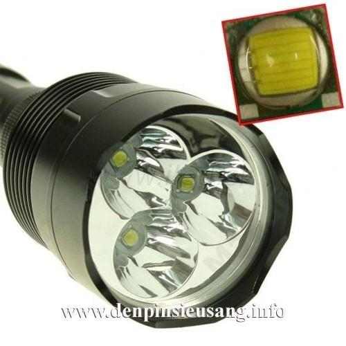 Đèn pin siêu sáng Holyfire 3T6 2000lm